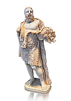 Roman statue of Hercules from the mid 2nd cent. AD excavated from the Via Appia. Hercules is portrayed as a mature man at rest, his naked body wrapped in a lion skin; he probably geld his club in his left hand. His style of dress was typical of that used in the Roman theatre. The statue of Hercules is a reworking of a Greek original dating from around the 2nd or 3rd cent. BC .  Inv  115165, The National Roman Museum, Rome, Italy