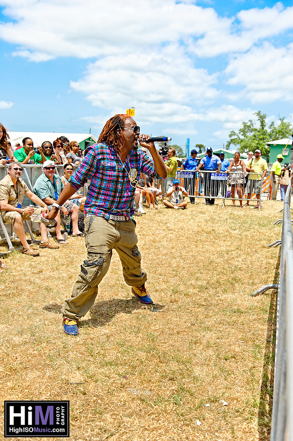 Big Freedia, Sissy Nobby, Katey Red playing at Jazz Fest in New Orleans, LA on day 2.