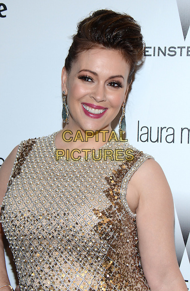 11 January 2015 - Beverly Hills, California - Alyssa Milano. The Weinstein Company and Netflix 2015 Golden Globes After Party celebrating the 72nd Annual Golden Globe Awards held at Robinsons May Lot.  <br /> CAP/ADM/TW<br /> &copy;TW/ADM/Capital Pictures