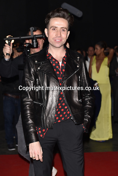 NON EXCLUSIVE PICTURE: MATRIXPICTURES.CO.UK<br /> PLEASE CREDIT ALL USES<br /> <br /> WORLD RIGHTS<br /> <br /> English presenter Nick Grimshaw attending The BRIT Awards 2015 Universal Music afterparty, at The Old Sorting Office in London. <br /> <br /> FEBRUARY 25th 2015<br /> <br /> REF: SLI 15637