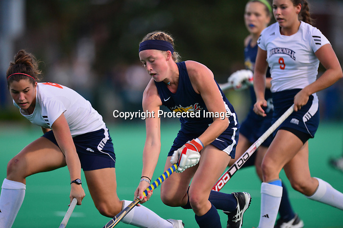 PHILADELPHIA &ndash; The Drexel field hockey team defeated Bucknell, 2-0, under the lights at Buckley Field. Senior co-captain Elise DiDonato and junior Margaux Lourtie both scored in the second half as the Dragons remain undefeated at home. Drexel improves to 3-2 overall and 2-0 at home, while the Bison dropped to 2-3 on the season. <br />