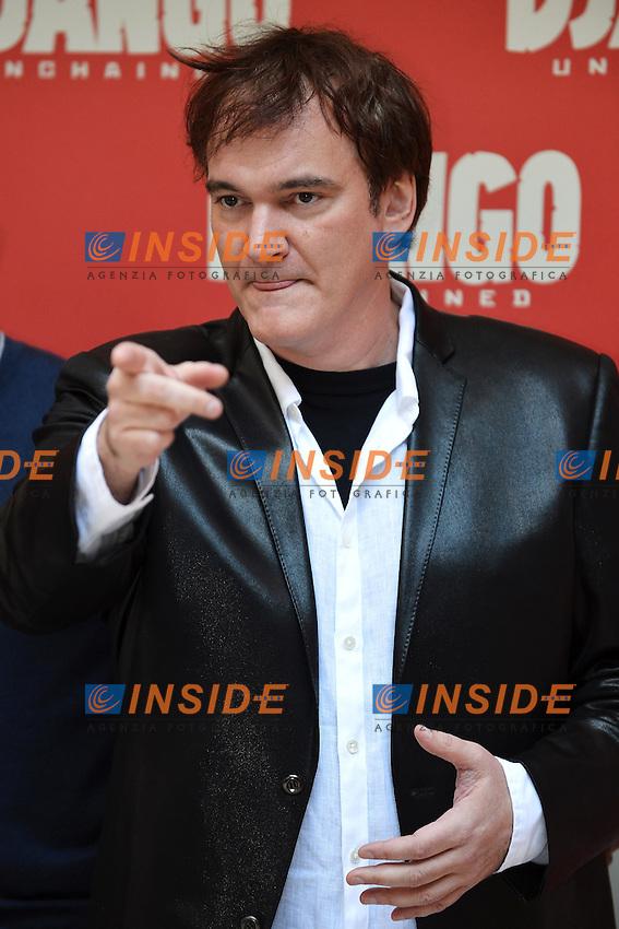 Film Director Quentin Tarantino.Roma 4/1/2013 Hotel Hassler.Django Unchained - Photocall.Foto Andrea Staccioli Insidefoto