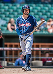 31 May 2018: New Hampshire Fisher Cats outfielder Connor Panas stands ready to bat against the Portland Sea Dogs at Northeast Delta Dental Stadium in Manchester, NH. The Sea Dogs defeated the Fisher Cats 12-9 in extra innings. Mandatory Credit: Ed Wolfstein Photo *** RAW (NEF) Image File Available ***