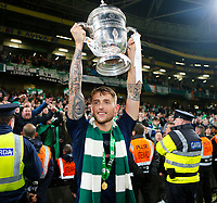 3rd November 2019; Aviva Stadium, Dublin, Leinster, Ireland; FAI Cup Final Football, Dundalk Football Club versus Shamrock Rovers; Lee Grace of Shamrock Rovers hosts the winners trophy over his head - Editorial Use
