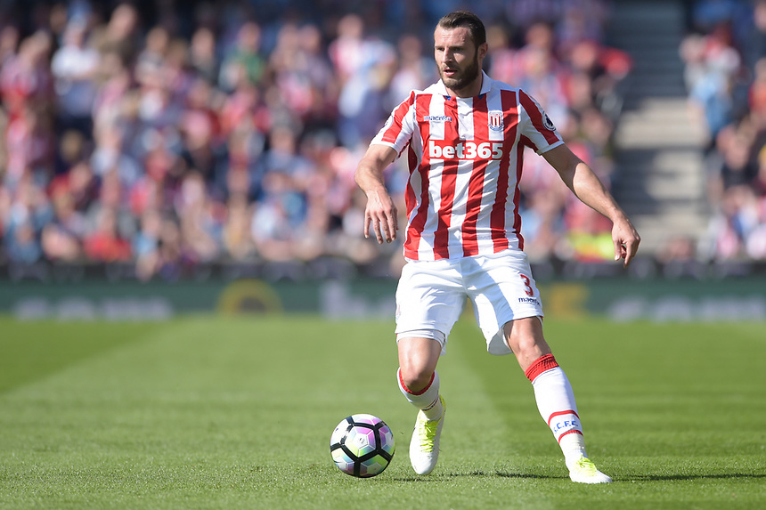 Stoke City's Erik Pieters<br /> <br /> Photographer Terry Donnelly/CameraSport<br /> <br /> The Premier League - Stoke City v Liverpool - Saturday 8th April 2017 - bet365 Stadium - Stoke-on-Trent<br /> <br /> World Copyright &copy; 2017 CameraSport. All rights reserved. 43 Linden Ave. Countesthorpe. Leicester. England. LE8 5PG - Tel: +44 (0) 116 277 4147 - admin@camerasport.com - www.camerasport.com