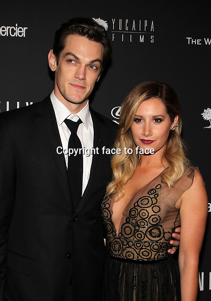 Beverly Hills, California - January 12: Ashley Tisdale, Christopher French at The Weinstein Company &amp; Netflix 2014 Golden Globes After Party on January 12, 2014 at The Beverly Hilton Hotel, California. <br /> Credit: MediaPunch/face to face<br /> - Germany, Austria, Switzerland, Eastern Europe, Australia, UK, USA, Taiwan, Singapore, China, Malaysia, Thailand, Sweden, Estonia, Latvia and Lithuania rights only -
