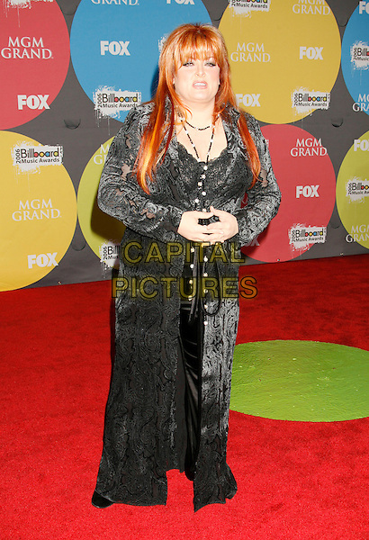 WYNONNA JUDD.2006 Billboard Music Awards held at the MGM Grand Hotel and Casino, Las Vegas, Nevada, USA..December 4th, 2006.full length black dress.CAP/ADM/RE.©Russ Elliot/AdMedia/Capital Pictures