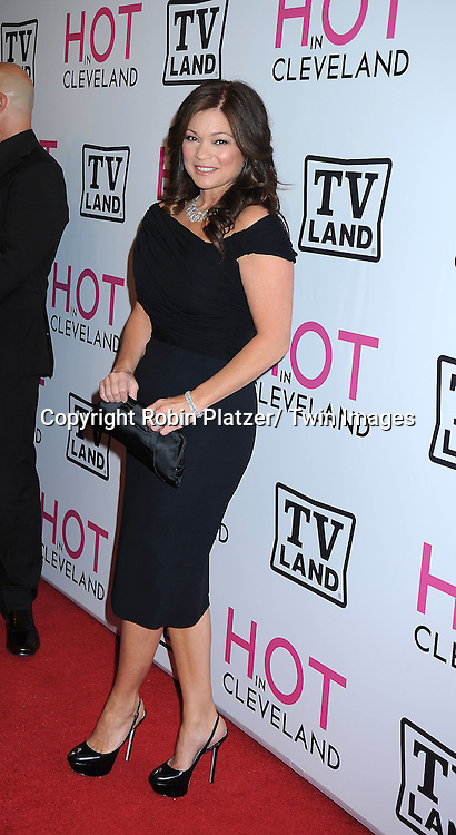 "Valerie Bertinelli  posing for photographers at The ""Hot In Cleveland"" premiere party and screening on June 14, 2010 .at The Crosby Street Hotel in New York City."