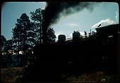 Very underexposed photo of D&amp;RGW #473 K-28 in Durango area.<br /> D&amp;RGW  Durango, CO