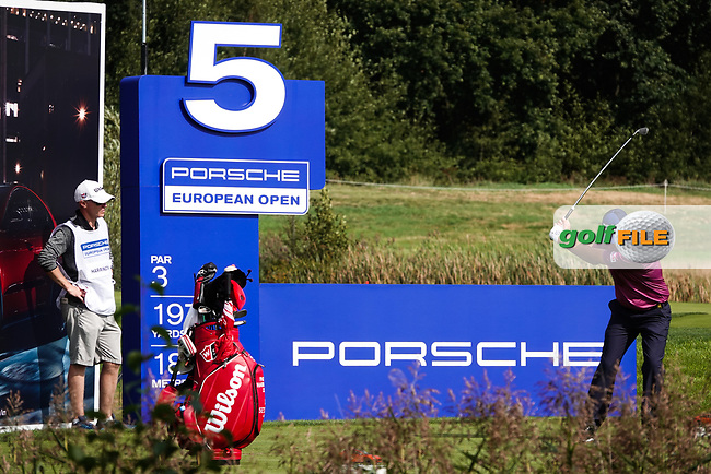 Padraig Harrington (IRL) in action during the ProAm ahead of the 2019 Porsche European Open , Green Eagle Golf Club, Hamburg, Germany. 04/09/2019<br /> Picture: Golffile | Phil Inglis<br /> <br /> <br /> All photo usage must carry mandatory copyright credit (© Golffile | Phil Inglis)