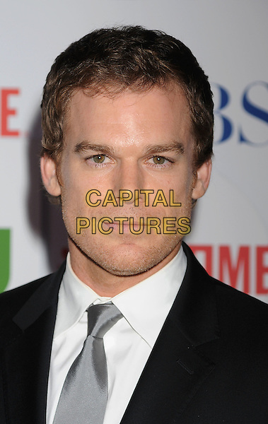 Michael C. Hall.arriving at the TCA Party for CBS, The CW and Showtime held at The Pagoda in Beverly Hills, California, USA,.August 3rd, 2011. .portrait headshot  black suit tie white shirt   grey gray silver .CAP/ROT/TM.©TM/Roth Stock/Capital Pictures