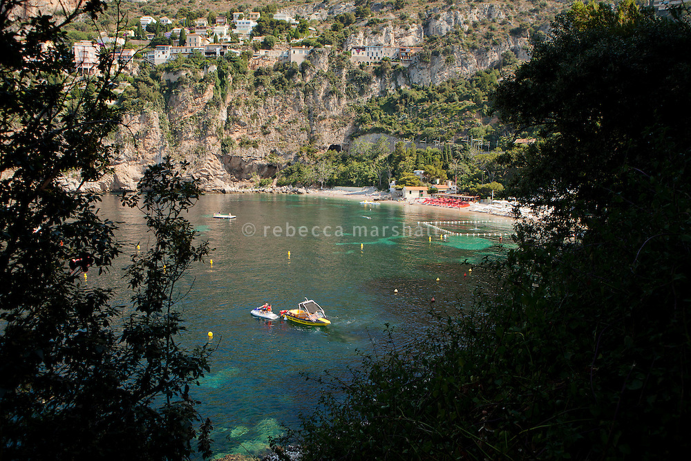 The hidden cove of Plage Mala, Cap d'Ail, France, 6 July 2013
