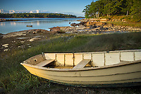 Deer Isle, Maine:<br /> Wooden row boatin a quiet cove of Deer Isle