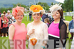 Bernie O'Leary (Rathmore), Hannah Rahilly (Rathmore) and Eileen Herlihy (Killarney) enjoying Ladies Day last Thursday afternoon in Killarney..