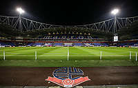 A general view of the University of Bolton Stadium <br /> <br /> Photographer Andrew Kearns/CameraSport<br /> <br /> The EFL Sky Bet Championship - Bolton Wanderers v West Bromwich Albion - Monday 21st January 2019 - University of Bolton Stadium - Bolton<br /> <br /> World Copyright © 2019 CameraSport. All rights reserved. 43 Linden Ave. Countesthorpe. Leicester. England. LE8 5PG - Tel: +44 (0) 116 277 4147 - admin@camerasport.com - www.camerasport.com