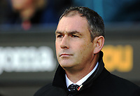 Swansea manager Paul Clement stands on the touchline during the Premier League match between Swansea City and Brighton and Hove Albion at The Liberty Stadium, Swansea, Wales, UK. Saturday 04 November 2017