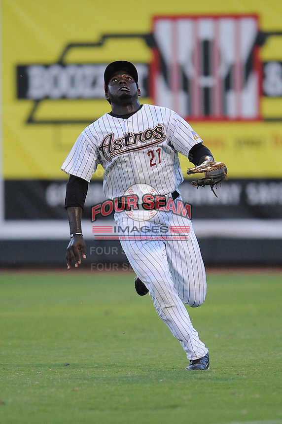 Greenville Astros Emilio King at Pioneer Park in Greenville, Tennessee July 19, 2010.   Greenville won the game 7-6.  Photo By Tony Farlow/Four Seam Images