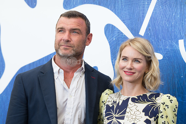 Liev Schreiber, Naomi Watts  at the photocall for The Bleeder at the 2016 Venice Film Festival.<br /> September 2, 2016  Venice, Italy<br /> CAP/KA<br /> &copy;Kristina Afanasyeva/Capital Pictures /MediaPunch ***NORTH AND SOUTH AMERICAS ONLY***