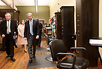 March 26, 2013. Lexington, South Carolina. Sen. Lindsey Graham took a tour of town with mayor Randy Halfacre, left, and stopped in at Cho On Main, a local hair salon, to speak with owner Leasa Collins.. Sen. Lindsey Graham, R- South Carolina, is up for reelection in 2014. He spent some time talking to his base back home about issues such as immigration reform as he readies himself for his campaign run..