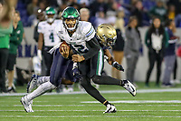 Annapolis, MD - October 26, 2019: Tulane Green Wave quarterback Justin McMillan (12) runs the ball during the game between Tulane and Navy at  Navy-Marine Corps Memorial Stadium in Annapolis, MD.   (Photo by Elliott Brown/Media Images International)