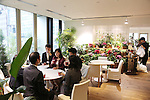 Pasona ground floor cafeteria open to the public and used by their employees for informal get togethers<br />