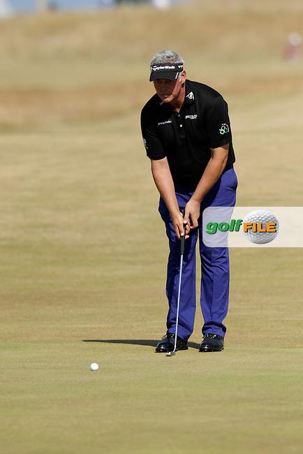 Darren CLARKE (NIR) during round two of  The 142th Open Championship Muirfield, Gullane, East Lothian, Scotland 19/7/2013<br /> Picture Eoin Clarke www.golffile.ie: