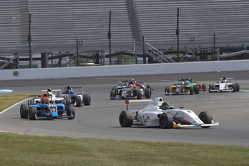 2017 F4 US Championship<br /> Rounds 4-5-6<br /> Indianapolis Motor Speedway, Speedway, IN, USA<br /> Sunday 11 June 2017<br /> #8 Kyle Kirkwood leads race three and wins all three race during Indy weekend.<br /> World Copyright: Dan R. Boyd<br /> LAT Images