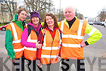 Caitriona Keane, Helen Fitzgibbon, Mary Campion and Paul Walsh at the  Radio Kerry Trek Tralee 8k Walk in aid of Samaritans and the Donal Walsh Live live Foundation at the Ashe Memorial Hall on Saturday