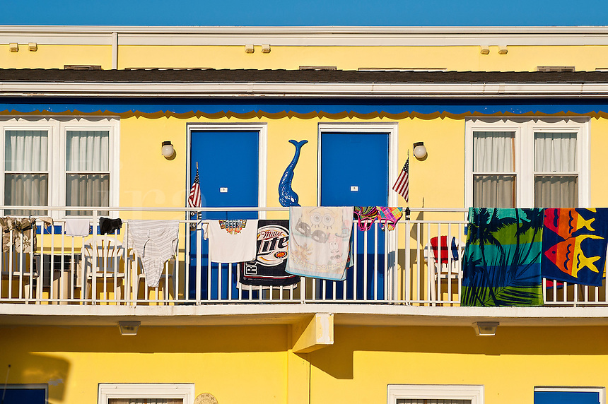 Motel with beach towels.