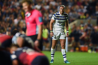 Jamie Roberts of Bath Rugby looks on. Gallagher Premiership match, between Bristol Bears and Bath Rugby on August 31, 2018 at Ashton Gate Stadium in Bristol, England. Photo by: Patrick Khachfe / Onside Images