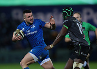 4th January 2020; RDS Arena, Dublin, Leinster, Ireland; Guinness Pro 14 Rugby, Leinster versus Connacht; Harry Byrne (Leinster) attempts to hand off a tackle from Niyi Adeolokun (Connacht)  - Editorial Use