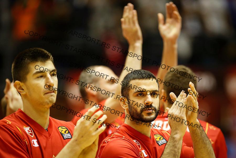 Kosarka Euroleague season 2016-2017<br /> Euroleague <br /> Crvena Zvezda v Real Madrid<br /> Luka Mitrovic and Branko Lazic (R)<br /> Beograd, 22.12.2016.<br /> foto: Srdjan Stevanovic/Starsportphoto &copy;