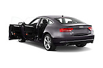 Rear three quarter door view of a 2009 - 2011 Audi A5 Ambition Luxe Sportback 5-Door Hatchback.