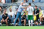 Stockholm 2014-07-28 Fotboll Superettan Hammarby IF - Assyriska FF :  <br /> Hammarbys Pablo Pinones-Arce byts ut i den f&ouml;rsta halvleken efter en skada och klappas om av Hammarbys tr&auml;nare Nanne Bergstrand <br /> (Foto: Kenta J&ouml;nsson) Nyckelord:  Superettan Tele2 Arena Hammarby HIF Bajen Assyriska AFF skada skadan ont sm&auml;rta injury pain depp besviken besvikelse sorg ledsen deppig nedst&auml;md uppgiven sad disappointment disappointed dejected