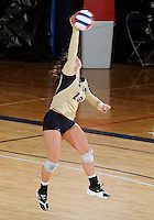 Florida International University women's volleyball player Chanel Araujo (13) plays against Florida Gulf Coast University.  FIU won the match 3-0 on November 8, 2011 at Miami, Florida. .