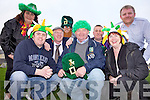 PARADE: Some of the organisers of the St Patrick's Day Parade in Ballyheigue getting into the spirit of the occasion this week, front l-r: Risteard O Fuarain, Pat Keating, Joan Keating. Back l-r: Margaret Dineen, Cllr John Brassil, Pat Flahive, Danny Diggins, Paul Dineen.