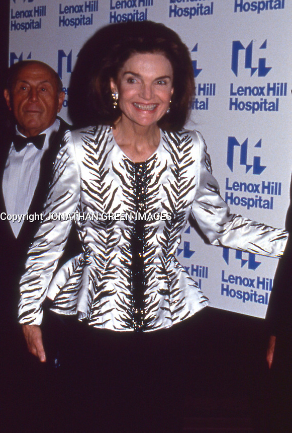 Jackie Kennedy Onassis 1992 NYC By <br /> Jonathan Green