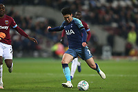 Son Heung-Min of Tottenham Hotspur scores the second goal during West Ham United vs Tottenham Hotspur, Caraboa Cup Football at The London Stadium on 31st October 2018