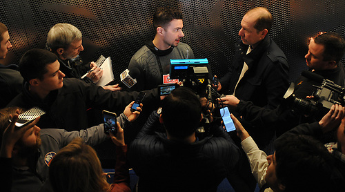 Shane Prince speaks with the media after New York Islanders player exit interviews at Northwell Health Ice Center in East Meadow on Sunday, April 8, 2018.
