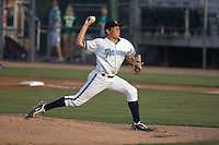 August 4, 2009: Everett AquSox starter Chris Kirkland toes the rubber against the Boise Hawks in a Northwest League game at Everett Memorial Stadium in Everett, Washington.