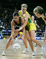 18.07.2007 Silver Ferns Maria Tutaia in action during the Silver Ferns v Australia Fisher and Paykel Netball Test Match at Vector Arena, Auckland. Mandatory Photo Credit ©Michael Bradley.