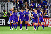 Orlando, FL - Saturday July 07, 2018: Marta, goal celebration during the second half of a regular season National Women's Soccer League (NWSL) match between the Orlando Pride and the Washington Spirit at Orlando City Stadium. Orlando defeated Washington 2-1.