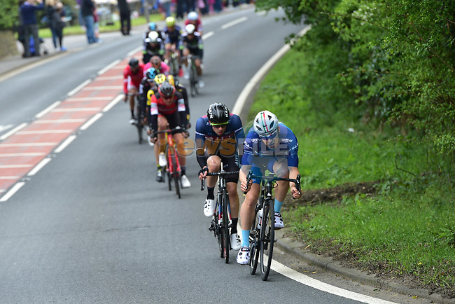 Breakaway tries to form during Stage 3 of the Tour de Yorkshire 2017 running 194.5km from Bradford/Fox Valley to Sheffield, England. 30th April 2017. <br /> Picture: ASO/P.Ballet | Cyclefile<br /> <br /> <br /> All photos usage must carry mandatory copyright credit (&copy; Cyclefile | ASO/P.Ballet)