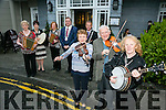 The Official launch at the Ashe Hotel of Fleadh Cheoil Chiarrai which will run from May 18th to 22ndFront l-r  Mary O'Regan, Richard Casey and Mary O'Sullivan. Back l-r  Margaret McGrath, Kathleen McDonagh, Marian Barnes, Mayor Of Tralee, Thomas McEllistrim and John Long Chairman of Chapter 23 Irish League of Credit Unions.