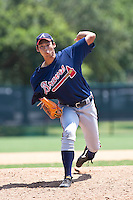 Shohei Sekiguchi of the Gulf Coast League Braves during the game against the Gulf Coast League Phillies July 10 2010 at the Disney Wide World of Sports in Orlando, Florida.  Photo By Scott Jontes/Four Seam Images