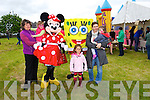 Emma Dennehy, Catherine Moriarty, Kim Walsh, Indie Walsh and Zara Walsh with minnie and Sponge Bob at the Ardfert Poultry Sale Fair on the Green Ardfert on Sunday
