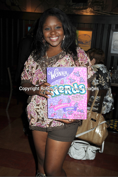 actress Shenell Edmonds attending the Shenell Edmonds Fan Club Dance Party on .August 14, 2011 at HB Burger's Sunken Bar in New York City. Shenell plays Destiny Evans on One Life to Live.