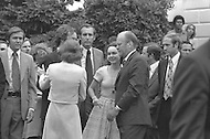 Washington DC  - Nixon resigned the presidency on August 9, 1973  saying farewell to his Cabinet and White House staff with his family by his side - Betty Ford with Julie Eisenhower, David Eisenhower and President Gerald Ford -  A break in at the Democratic National Committee headquarters at the Watergate complex on June 17, 1972 results in one of the biggest political scandals the US government has ever seen.  Effects of the scandal ultimately led to the resignation of  President Richard Nixon, on August 9, 1974, the first and only resignation of any U.S. President.