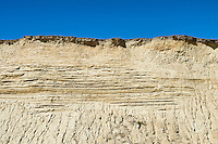 Severe beachfront cliff erosion along Squibnocket Beach, Chillmark, Martha's Vineyard, Massachusetts, USA
