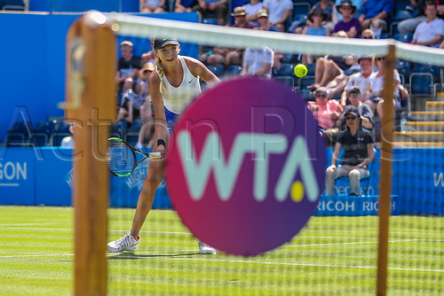 June 18th 2017, Edgbaston Priory Club; Tennis Tournament; Aegon Classic Birmingham; Sunday Qualifiers;  Katie Boulter plays a drop shot against Sachia Vickery